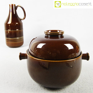 Ceramiche Franco Pozzi, brocca e contenitore marroni, Ambrogio Pozzi (4)