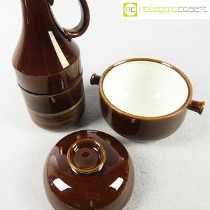Ceramiche Franco Pozzi, brocca e contenitore marroni, Ambrogio Pozzi (5)