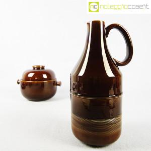 Ceramiche Franco Pozzi, brocca e contenitore marroni, Ambrogio Pozzi (6)