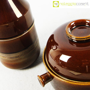 Ceramiche Franco Pozzi, brocca e contenitore marroni, Ambrogio Pozzi (7)