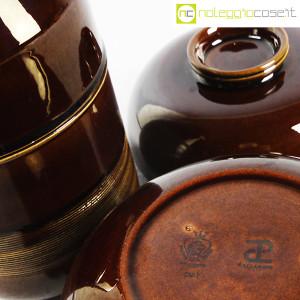 Ceramiche Franco Pozzi, brocca e contenitore marroni, Ambrogio Pozzi (8)