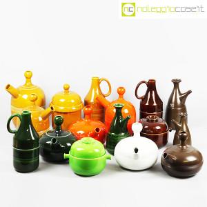 Ceramiche Franco Pozzi, brocca e contenitore marroni, Ambrogio Pozzi (9)
