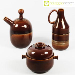 Ceramiche Franco Pozzi, brocche e contenitore marroni, Ambrogio Pozzi (1)