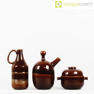 Ceramiche Franco Pozzi, brocche e contenitore marroni, Ambrogio Pozzi (2)