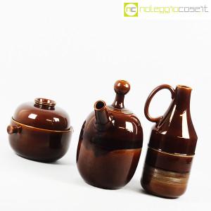 Ceramiche Franco Pozzi, brocche e contenitore marroni, Ambrogio Pozzi (3)
