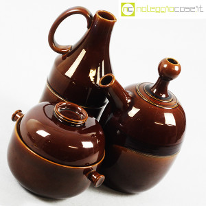 Ceramiche Franco Pozzi, brocche e contenitore marroni, Ambrogio Pozzi (4)