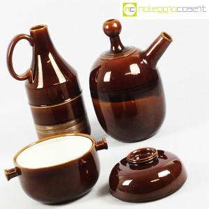 Ceramiche Franco Pozzi, brocche e contenitore marroni, Ambrogio Pozzi (5)