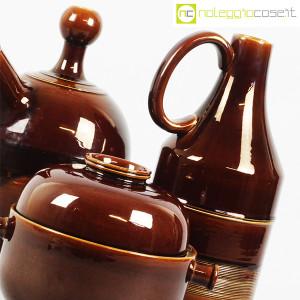 Ceramiche Franco Pozzi, brocche e contenitore marroni, Ambrogio Pozzi (6)