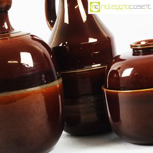 Ceramiche Franco Pozzi, brocche e contenitore marroni, Ambrogio Pozzi (7)