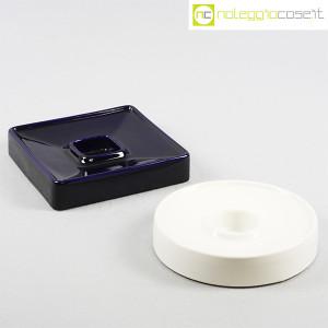 Ceramiche Brambilla, posacenere quadrato blu, Angelo Mangiarotti (9)