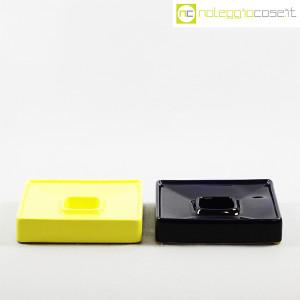 Ceramiche Brambilla, posacenere quadrato blu e giallo, Angelo Mangiarotti (2)