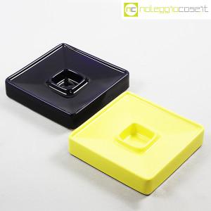 Ceramiche Brambilla, posacenere quadrato blu e giallo, Angelo Mangiarotti (4)