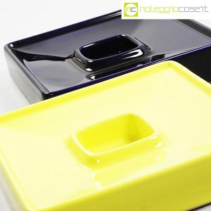 Ceramiche Brambilla, posacenere quadrato blu e giallo, Angelo Mangiarotti (5)