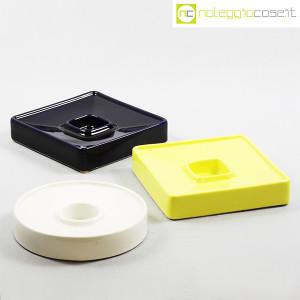 Ceramiche Brambilla, posacenere quadrato blu e giallo, Angelo Mangiarotti (9)