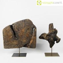Legni fossili con base in metallo