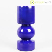 Vaso blu a cilindro sagomato