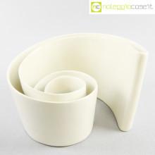 Ceramica a spirale bianca