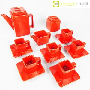 Montecatini Ceramiche, servizio in ceramica smaltata rosso (1)