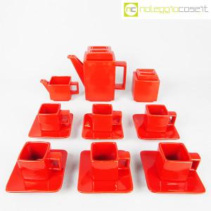 Montecatini Ceramiche, servizio in ceramica smaltata rosso (2)