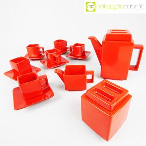 Montecatini Ceramiche, servizio in ceramica smaltata rosso (3)