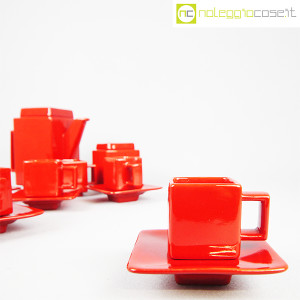 Montecatini Ceramiche, servizio in ceramica smaltata rosso (6)