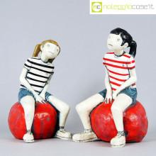 Silvia Trappa sculture On a red ball