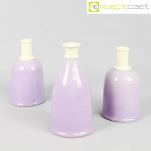 Ceramiche Bucci, set bottiglie lilla, Franco Bucci (1)