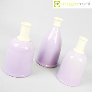 Ceramiche Bucci, set bottiglie lilla, Franco Bucci (3)