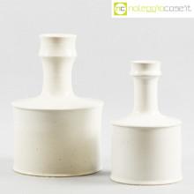Ceramiche Bucci coppia vasi bianchi