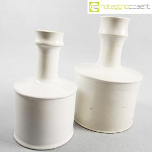 Ceramiche Bucci, coppia vasi bianchi, Franco Bucci (3)
