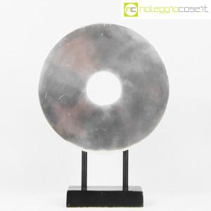 Scultura disco in metallo con base (2)