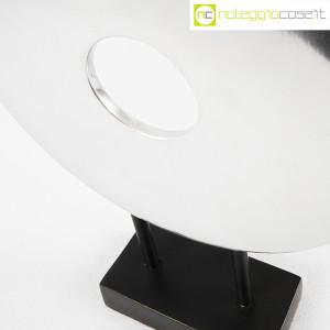 Scultura disco in metallo con base (8)