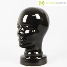 Testa in ceramica nero lucido
