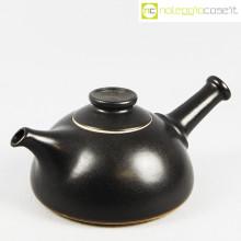 Ceramiche Bucci teiera nera con manico