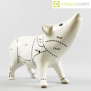 Maiale in ceramica bianco nero (3)