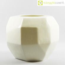 Vaso bianco sfaccettato grande