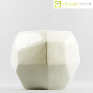Vaso bianco sfaccettato grande (2)