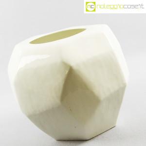 Vaso bianco sfaccettato grande (3)