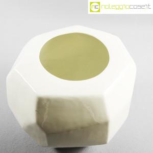 Vaso bianco sfaccettato grande (4)