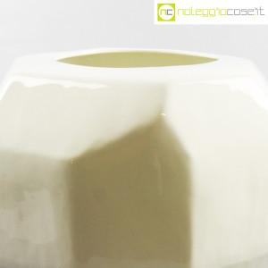 Vaso bianco sfaccettato grande (5)