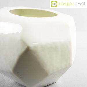 Vaso bianco sfaccettato grande (6)