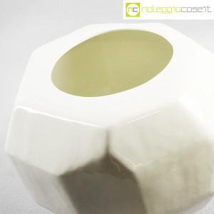 Vaso bianco sfaccettato grande (8)