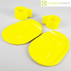 Gabbianelli, coppia tazze gialle con piattino serie Liisi, Liisi Beckmann (5)