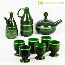Ceramiche Pozzi set ceramiche verde scuro