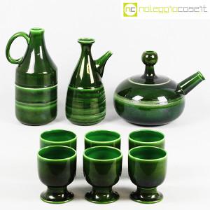 Ceramiche Franco Pozzi, caraffe con bicchieri verde scuro, Ambrogio Pozzi (2)