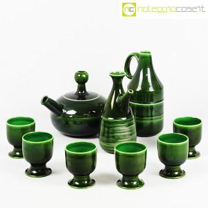 Ceramiche Franco Pozzi, caraffe con bicchieri verde scuro, Ambrogio Pozzi (3)