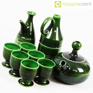 Ceramiche Franco Pozzi, caraffe con bicchieri verde scuro, Ambrogio Pozzi (4)