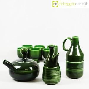 Ceramiche Franco Pozzi, caraffe con bicchieri verde scuro, Ambrogio Pozzi (5)
