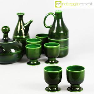 Ceramiche Franco Pozzi, caraffe con bicchieri verde scuro, Ambrogio Pozzi (6)
