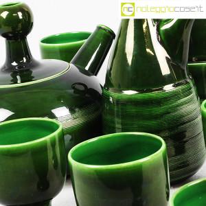 Ceramiche Franco Pozzi, caraffe con bicchieri verde scuro, Ambrogio Pozzi (7)